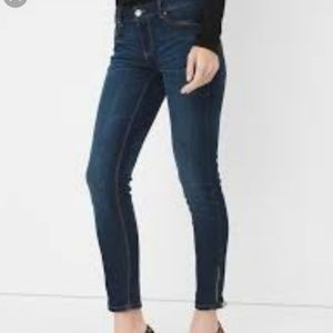 WHBM Women Skimmer Ankle Zipper Jeans